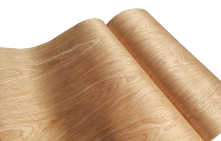 Length: 2.5Meters Thickness:0.25mm  Width: 60cm Technology Cherry Pattern Veneer Cabinet Doors Veneer (back non woven fabric)