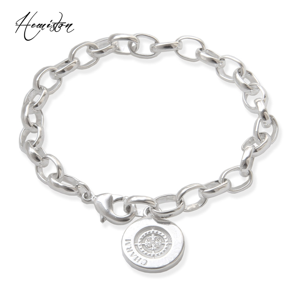 Thomas Basic Charm font b Bracelet b font with Circle clasp Fit TS Charms Club Plated