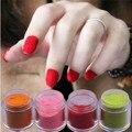 24 Gigante de Color Fina Brillante Glitter Nail Art Kit ULTRAVIOLETA de Acrílico del Polvo del polvo Tip 3D DIY Uñas de Arte En Polvo