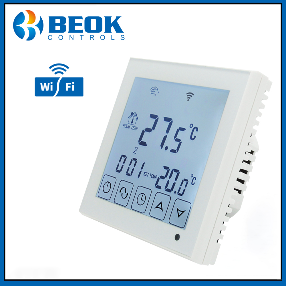 Beok TDS23WIFI WP 3A LCD Touch Screen Thermostat Regulator for Water Heating Controlled by Android IOS