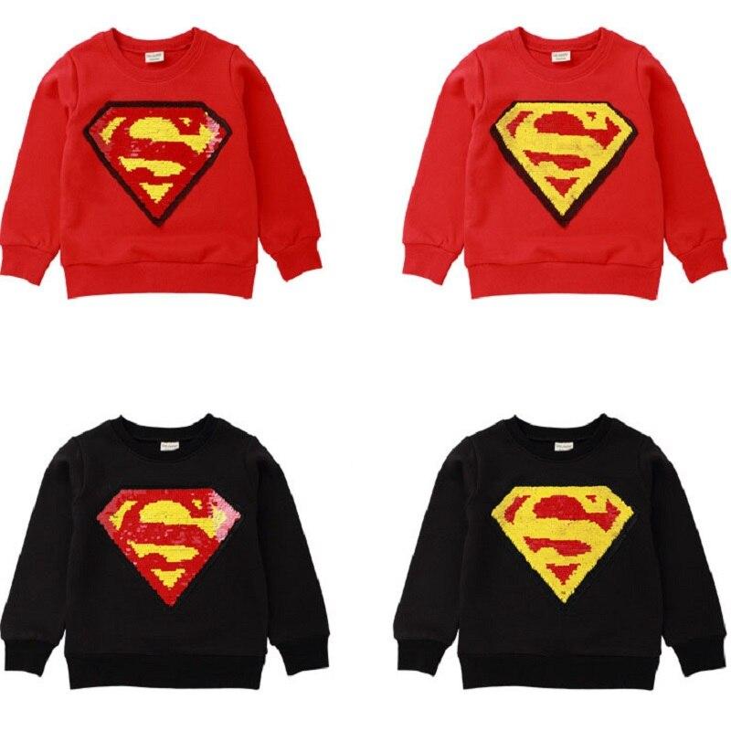 Boy Superman Lange-ärmeln Pullover T-shirt 2019 Frühling Und Herbst Neue Kinder Tragen Kinder Lange-ärmeln Baby Shirt Babykleidung Mädchen