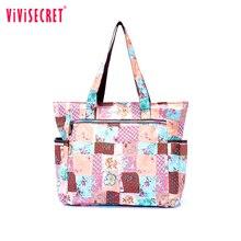 New Floral Print Women Handbag Nylon Fashion Ladies font b Shoulder b font Beach font b
