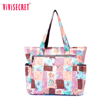 New Floral Print Women Handbag Nylon Fashion Ladies Shoulder Beach Bags Casual Tote Big Shopping Mummy Bags