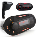 Universal Car MP3 Player FM transmitter 3.5mm Stereo Headphone Jack Support External USB Source SD With LCD Display Car-Styling