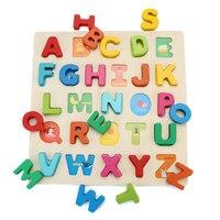 Baby Montessori Wooden Toys Educational Preschool Sensory Alphabet Wood Board Developing Toys For Children