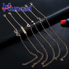 Pulsera de símbolo eterno Vintage para mujer, color dorado geométrico, encantos de amor, juego de pulsera de Metal 6 uds/1 Juego de Pulseras
