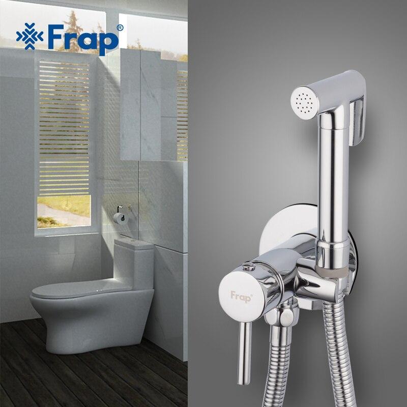 Quyanre Wall Mount Bidet Faucets Brass Bathroom Shower Tap Bidet Toilet Sprayer Washer Tap Mixers Muslim Shower Ducha Higienica Bidets & Bidet Parts