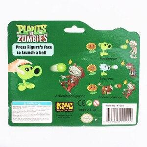 Image 5 - Plantas VS. Figuras de zombis, Peashooter, bomba de cereza de girasol, Snow Pea Chomper, jalapeño, Cactus, Cob Cannon, avión, modelo PVZ, Juguetes
