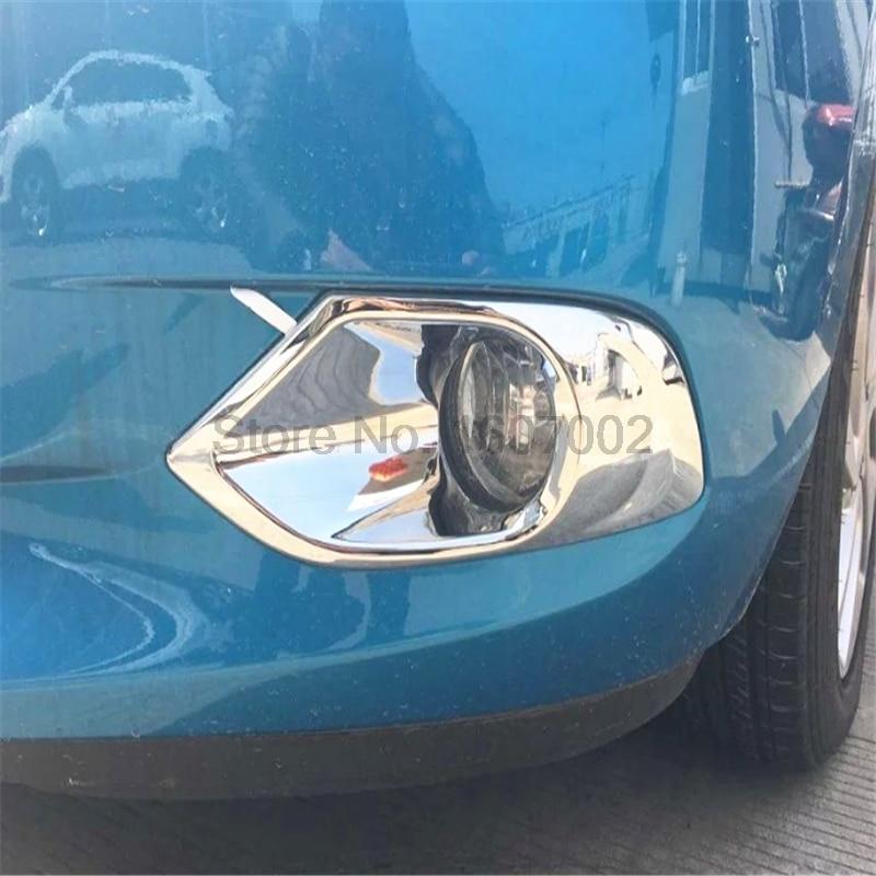 For Chevrolet Lova RV 2016 ABS Chrome Front Fog Light Frame Trim Cover Car  Styling Exterior