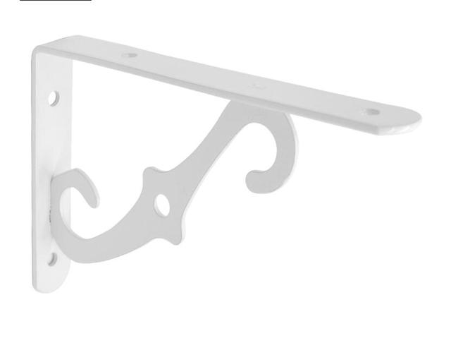 1 Pair Metal Wall Mounted Shelf Support Bracket Holder Home Decor Rack Corbel White  25x17.5cm