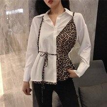 hot deal buy nicemix women casual leopard pliced print tops blouse shirt ladies loose long sleeve top blouse blusas mujer de moda leopard tee