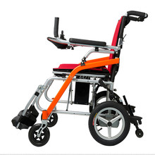Stylish foldable lithium battery for electric handicapped and elderly ultra-light wheelchairs.
