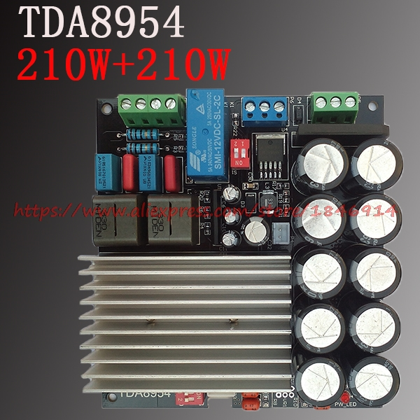 TDA8954 digital power amplifier board 210W+210W fever 2 finished D class dual channel after class Super TDA8950TDA8954 digital power amplifier board 210W+210W fever 2 finished D class dual channel after class Super TDA8950