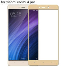 3D hard edge Protective glass on for Xiaomi Redmi 4 Pro Tempered Glass 9H Full Cover Screen Protector For Xiaomi Redmi 4 glass(China)