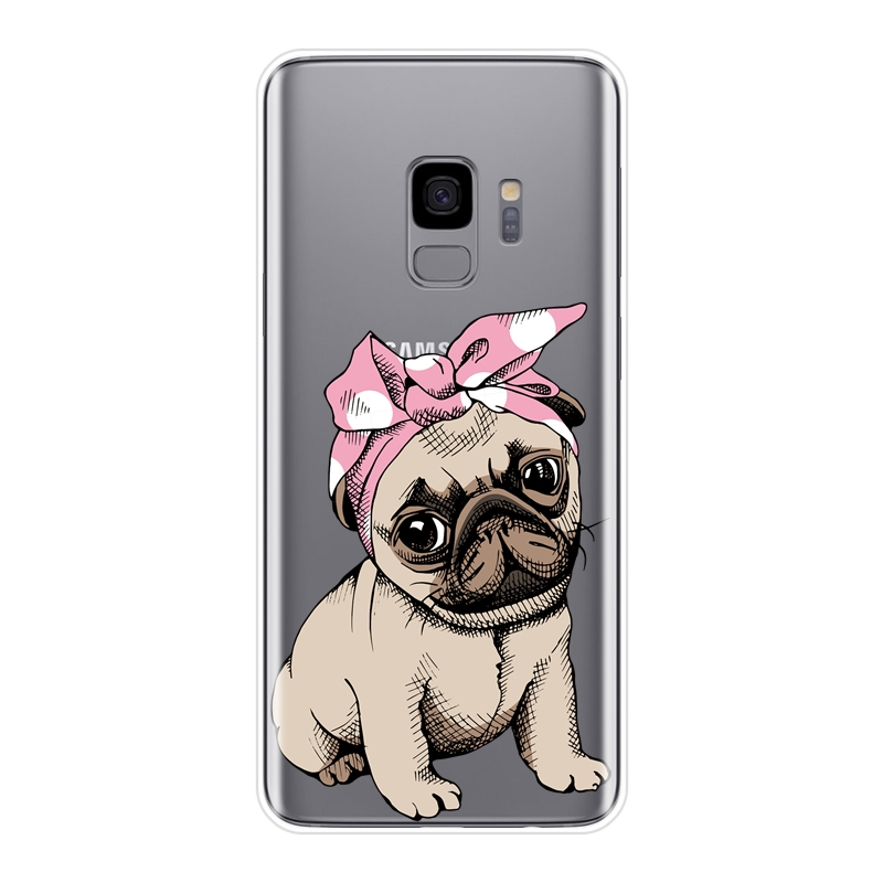 Case For Samsung Galaxy Note 4 5 8 9 Soft Silicone Pug French Bulldog Back Cover For Samsung S8 S9 Plus S5 S6 S7 Edge Phone Case