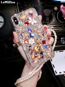 Image 1 - Luxury Bling Lovely Bear Rhinestones Diamonds Soft Case Cover For Xiaomi Redmi 9 9A 9T Pro Note9 Pro Max Note9S Note8 Pro Case