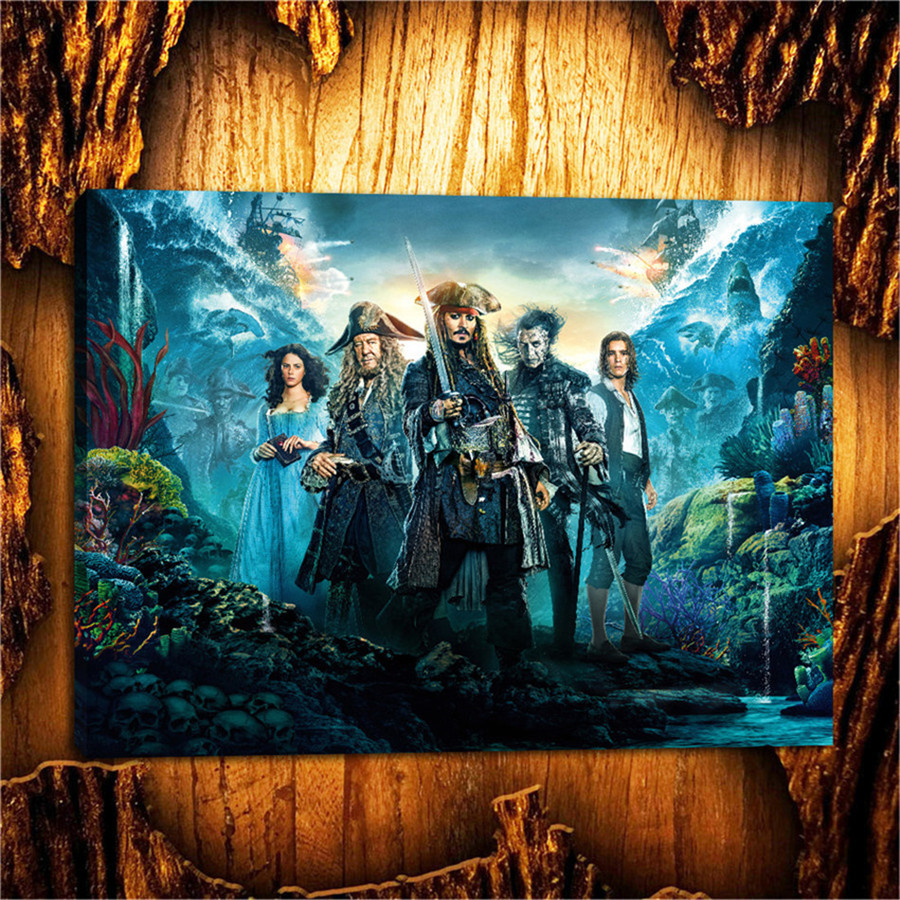 Caribbean Jack Sparrow Canvas Painting Living Room Home Decor Modern Mural Art Oil Paint ...