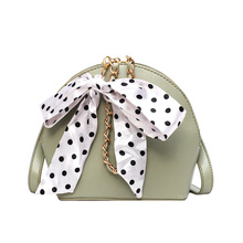 2019New Fashion Shell Bag Chain Shoulder Solid Color Handbags Women Small Butterfly knot element bag