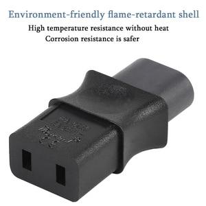 Image 5 - 2 контактный Iec 320 C8 штекерным Iec 320 C9 Женский адаптер переменного тока 6A/250V ЕС промышленный Мощность конвертер