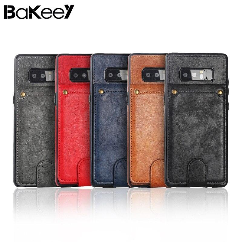 Bakeey для Samsung для Galaxy Note 8 многофункциональный съемный кошелек флип чехол Рамки слот для карты всего тела Специальные чехлы