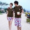 Бесплатная доставка 2015 летняя мода мужчины/женщины горячая пара шорты купальники пляж совета шорты