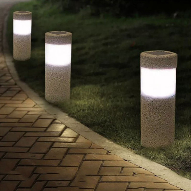 Outdoor LED Solar Lights Lawn Lights Waterproof Lighting Cordless Solar  Powered LED Garden Lamp Light Operated Sand Blast Lamp