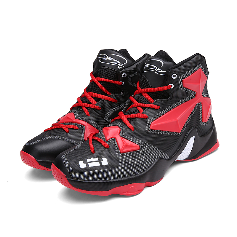 2019 nouvelle tendance haute cheville hommes Basket-Ball chaussures garçon amortissement Cool baskets étudiants en plein air formation Mach Ball chaussures Basket homme