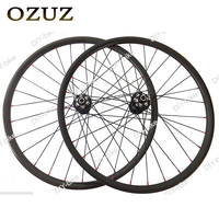 OZUZ 700C 29er MTB Wheels 30mm width 20mm depth Carbon Clincher Tubular Mountain Carbon bike bicycle Cycling Wheelset