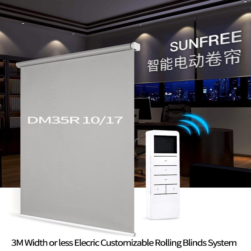Original Dooya Tubular Motor DM35S/35R Smart Home Automation 3M Width Elecric Customizable Rolling Blinds System