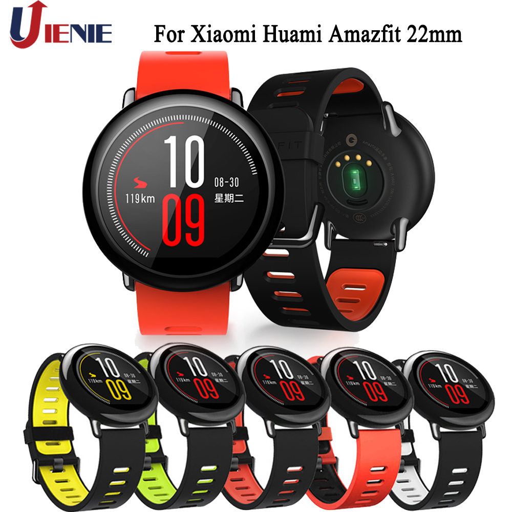 Silicone Watchband Strap For Xiaomi Huami Amazfit PACE/ Stratos 2 2S/GTR 47mm Bracelet Band 22mm Sport Wristband Watch Correa