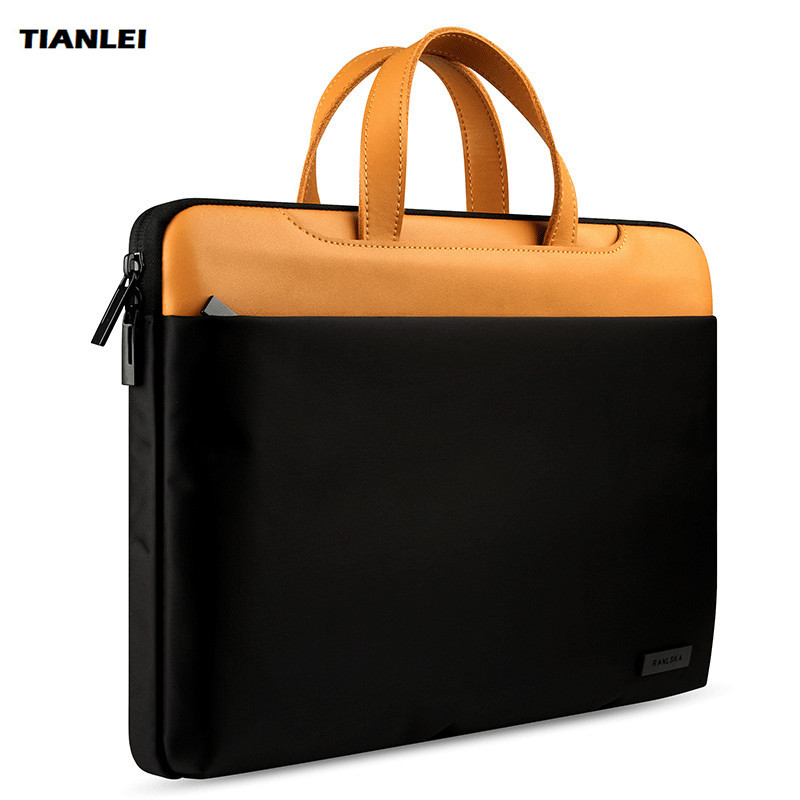 TIANLEI Genuine Leather Laptop Bag For Xiaomi Lenovo Notebook Laptop Messenger Bag Case For Macbook Air Pro 13 15.4 Handbag hot handbag for laptop 14 for macbook air pro 13 3 13 14 1 lady notebook bag women messenger purse free drop ship 0084s414