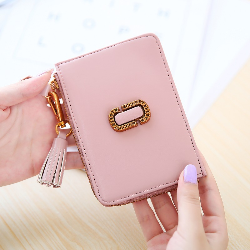 Tassels Zipper Women Wallets Coin Card Cash Invoice Fashion Lady Small Purse Short Solid ...