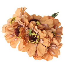 6Pcs Artificial Camellia Flower Head bract Simulation Flowers Decorative Flowers Home Decorations For Wedding home decorative high simulation ombre artificial flowers
