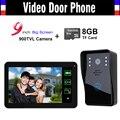 9 inch Touch Monitor Video Door Phone Intercom Doorbell Video Record  Door bell Doorphone Home Security Kits with 8GB TF card