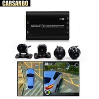 360 3D Car Surround View System Auto Bird View Panorama DVR System 4 Camera HD 1080P Car DVR Recorder 3D Parking Assistance