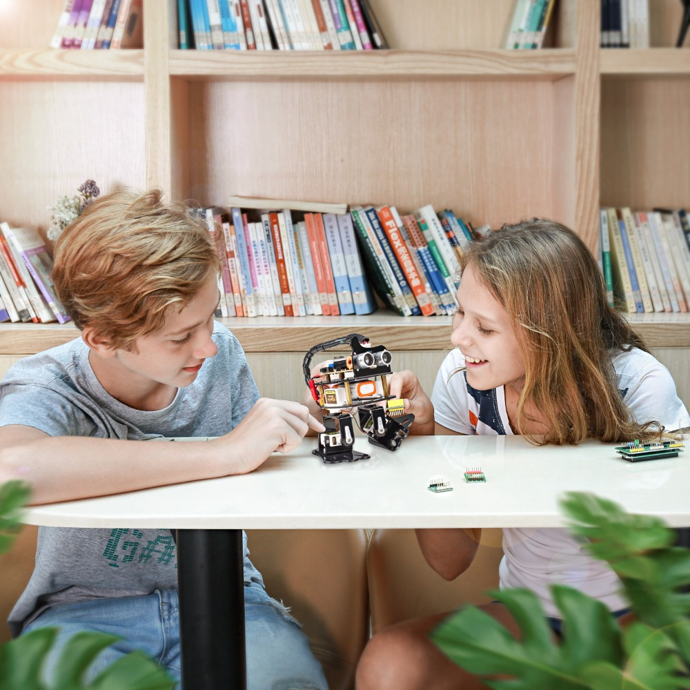 Kit Robot bricolage 4-dof-Kit d'apprentissage paresseux Kit Robot de danse Programmable pour jouet électronique - 5