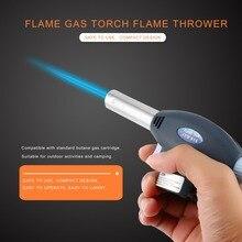 Senderismo Camping BBQ llama Gas antorcha pistola quemador llama antorcha encendedor automático piezoelectricidad Ignite herramienta de soldadura