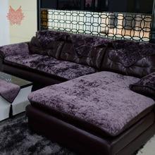 European Style Purple Blue Beige Velvet Sofa Cover Plush Slipcovers Furniture Couch Covers Fundas De
