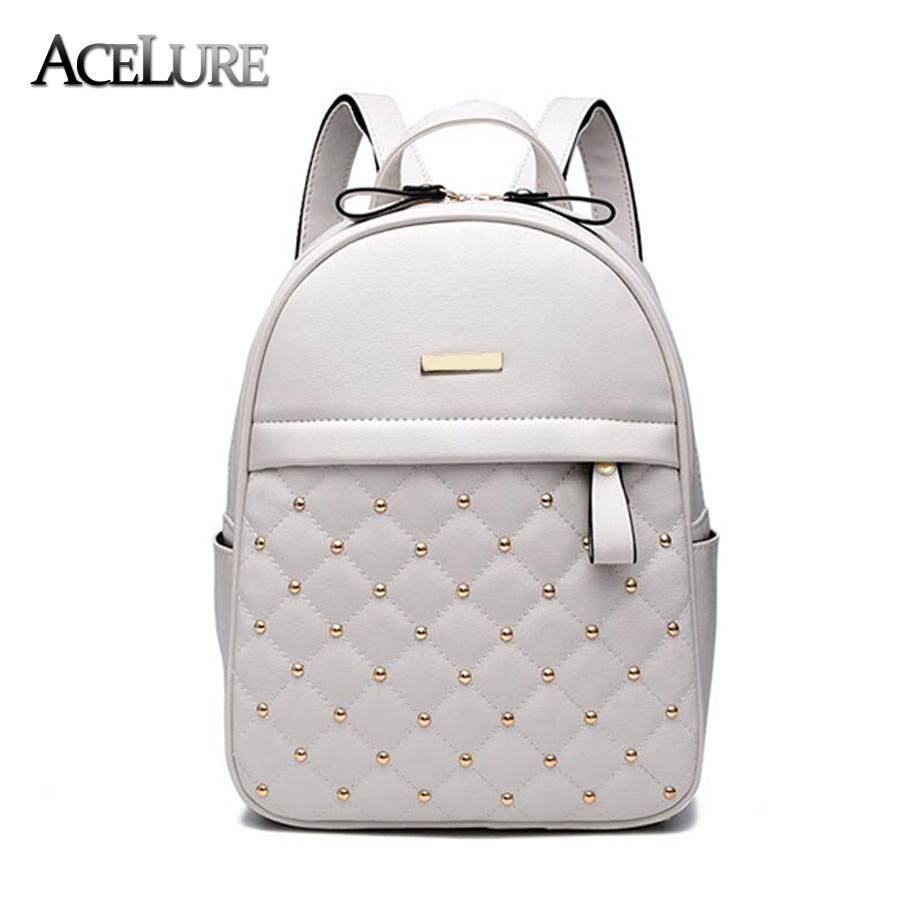 Acelure Women Backpack Hot Sale Fashion Causal Bags High Quality Bead Female Shoulder Bag Pu Leather Backpacks For Girls Mochila #2