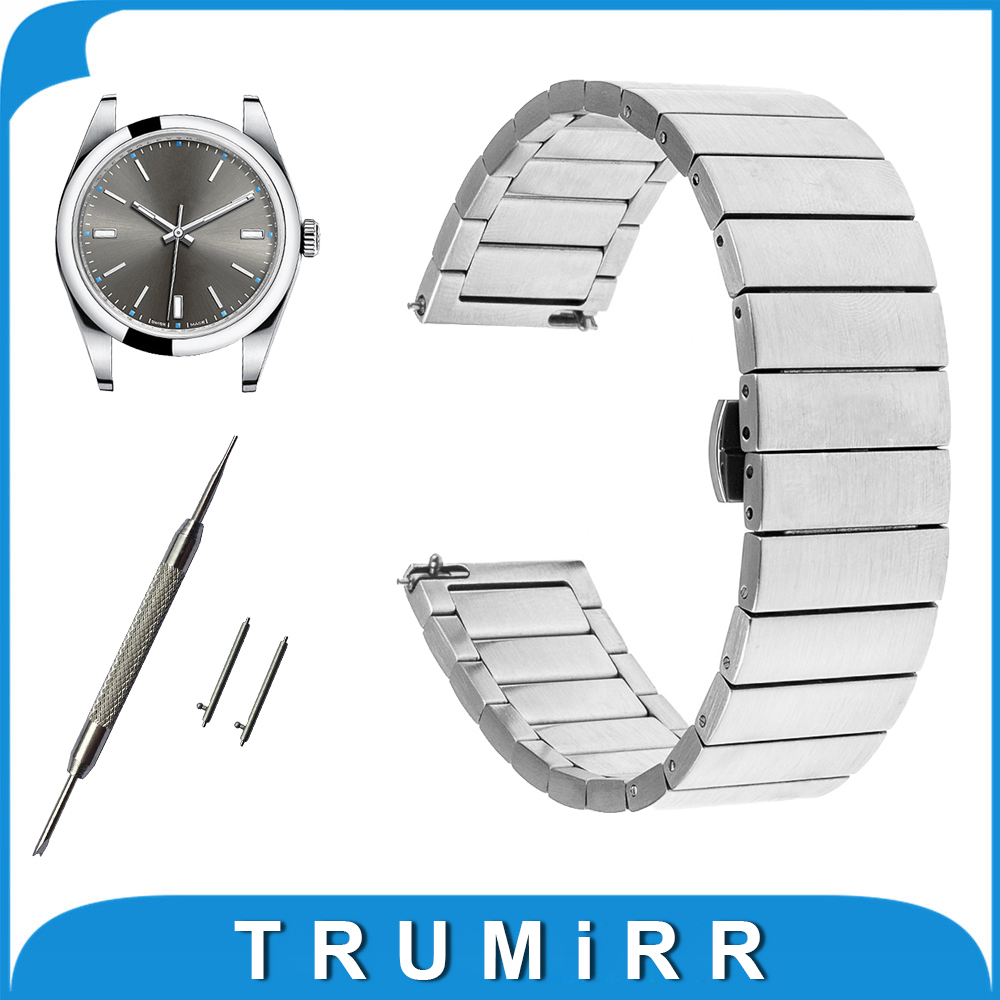 18mm 20mm Quick Release Strap for Rolex 36mm 40mm Wrist Watch Band Stainless Steel Butterfly Buckle Link Bracelet curved end stainless steel watch band for breitling iwc tag heuer butterfly buckle strap wrist belt bracelet 18mm 20mm 22mm 24mm