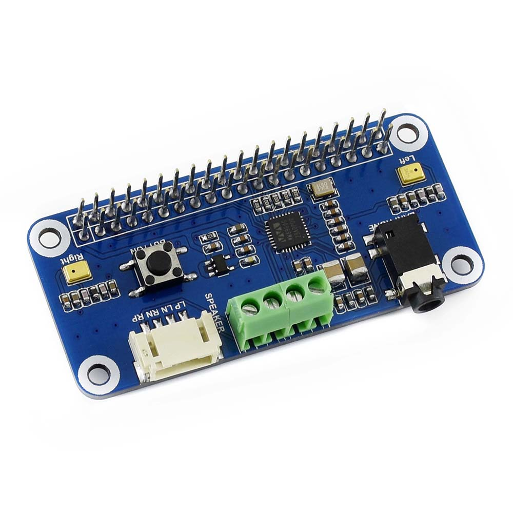 WM8960 Hi-Fi Sound Card HAT For Raspberry Pi, Stereo CODEC, Play/Record .