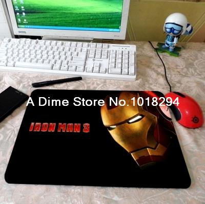 Customized Iron Man mouse pad Tony Cool Silicon Anti-slip Mousepad notbook computer gaming padmouse Fashion keyboard mouse mats