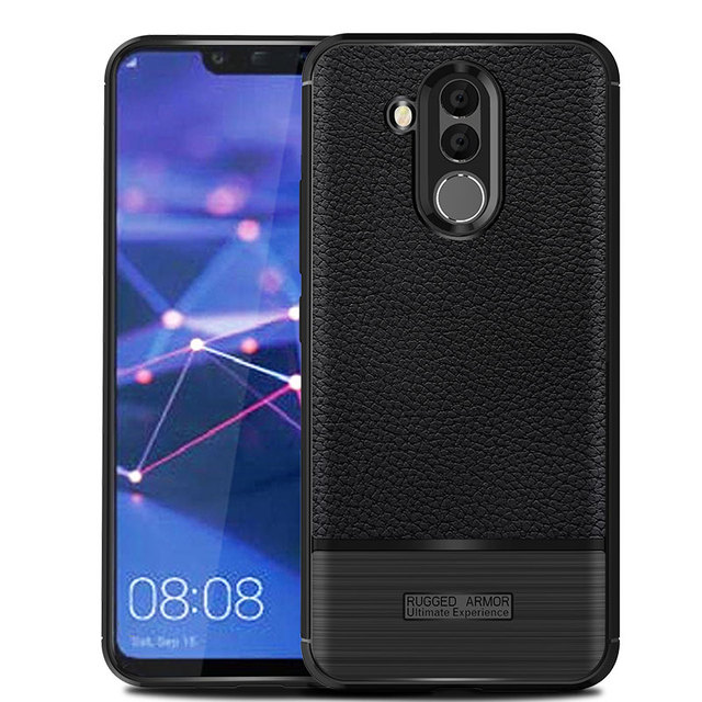 best service 4c8c0 ce3f8 US $2.9 |For Huawei Mate 20 Lite Case Cover Litchi Striae Soft TPU Silicone  PU Leather Back Cover Case For Huawei Mate 20 Lite 6.3