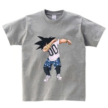 Dabbing Dragon Ball Naruto funny t shirt boy Casual tee cute cartoon DAB dance T shirt girls boys tops 2018 kid t shirts  NN цена