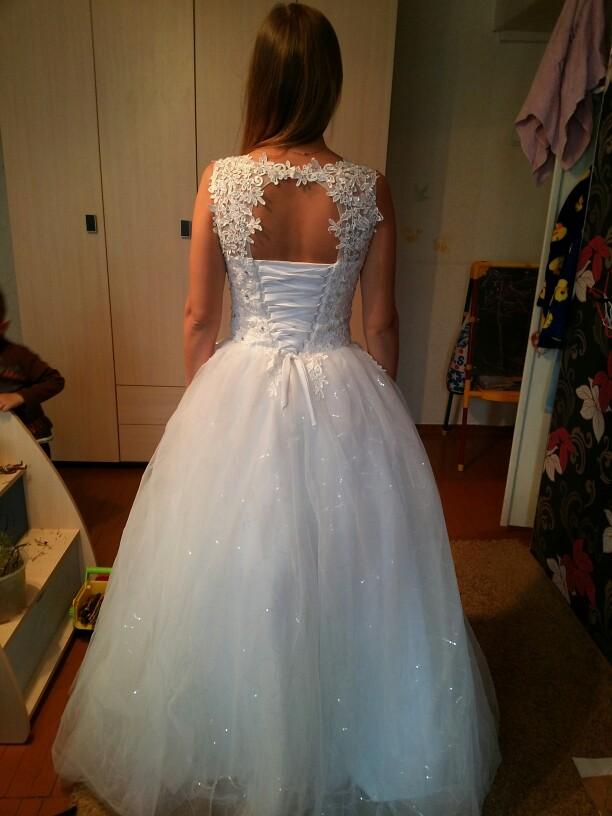 Fansmile Korean Lace Up Ball Gown Quality Wedding Dresses 2017 ... 8e7e7986a01c