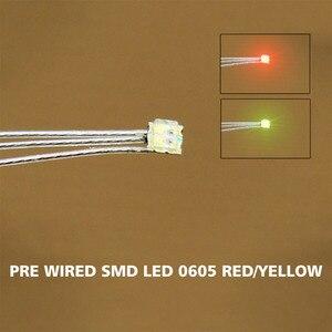 Image 2 - DT0605RY 20 pc wstępnie lutowane litz przewodowe prowadzi Bi kolor czerwony/żółty SMD Led 0605 nowy