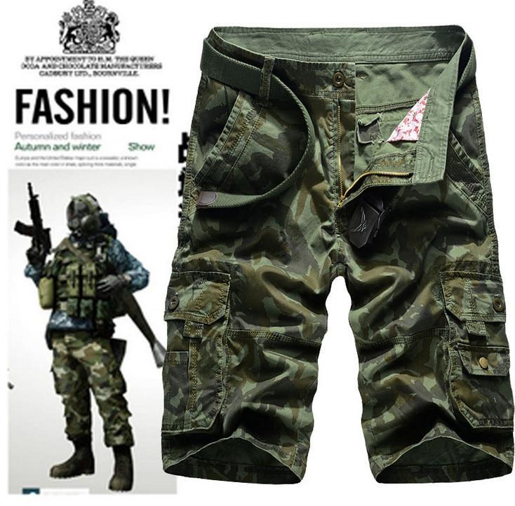 ZOEQO мужские бриджи, бермуды masculina de marca мужские повседневные мужские шорты Карго Camo карго шорты, военный камуфляж шорты