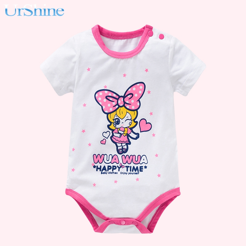 2018 Baby Romper Newborn Infant Baby Girls Clothes Summer Short Sleeve Ruffles Jumpsuit One Pieces Outfits Sunsuit