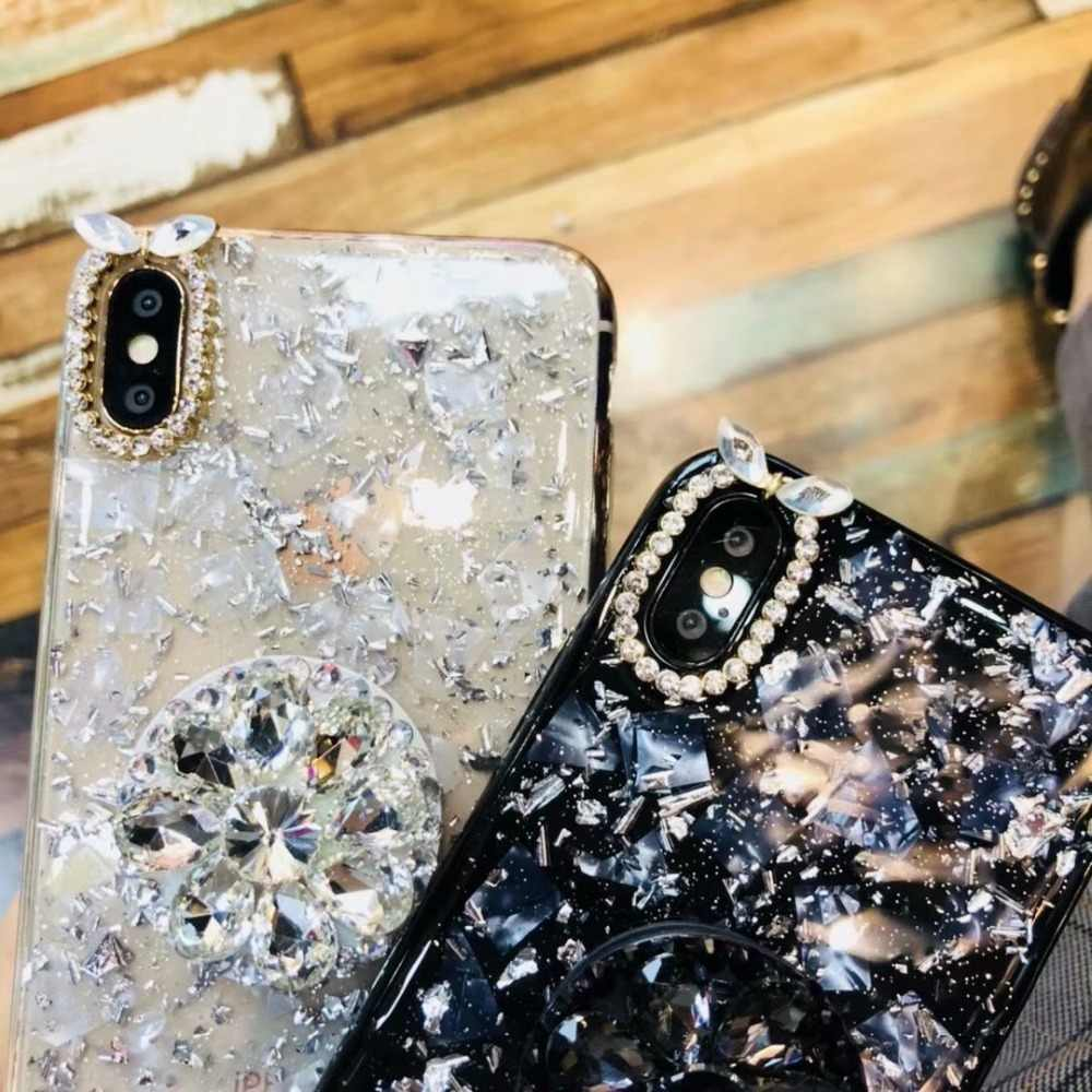 Luxury Capa Bling Diamond Airbag Bracket Epoxy Soft Case Cover For iphone X XS  MAX XR 36d8aeb5c49e