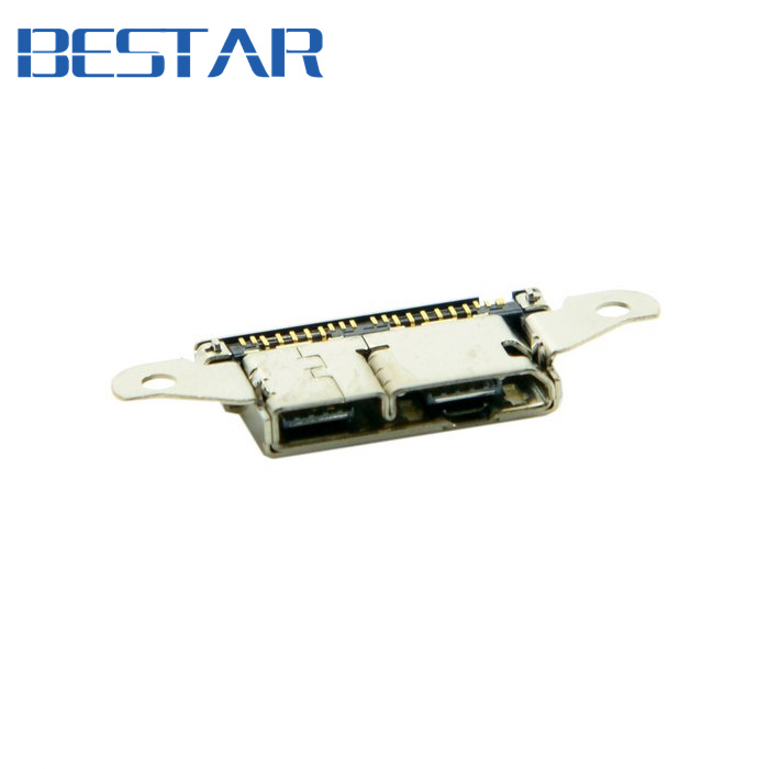 (200 pieces/lot) Micro USB 11+5Pin Female Socket Receptacle Board Mount SMT Type Repair Part for Samsung S5 Cell Phone